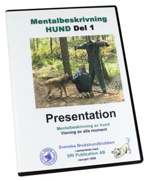 DVD Mentalbeskrivning hund, del 1